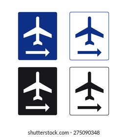 Airport sign vector set