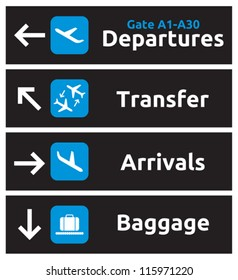 Airport Signs Images Stock Photos Vectors Shutterstock