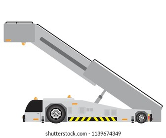 Airport stair truck
