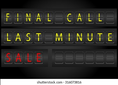 airport timetable information display style for advertisment