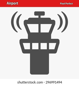 Airport Tower Icon. EPS 8 format.