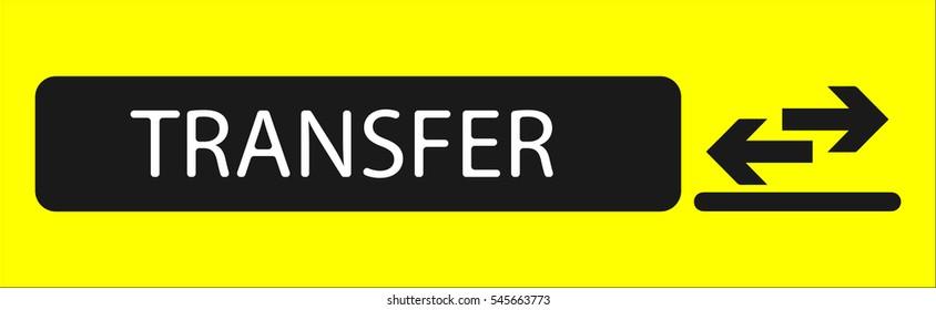 Airport transfer sign, vector illustration