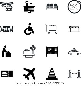 airport vector icon set such as: toilet, car, auto, striped, baby, store, law, hour, medical, propeller, raffle, person, chopper, view, patio, tickets, scale, interior, building, automobile, iron