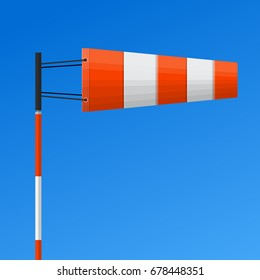 Airport windsock vector flat design.