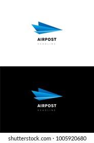 Airpost logo template.