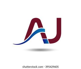 AJ company group linked letter logo