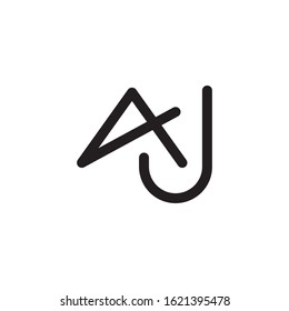 AJ initial letter logo template vector icon design
