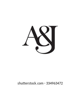 A&J Initial logo. Ampersand monogram logo