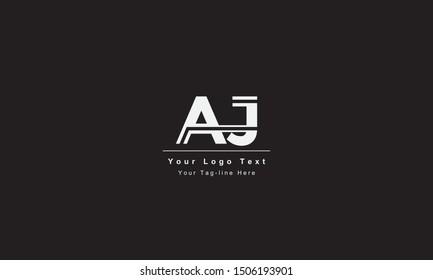 AJ or JA letter logo. Unique attractive creative modern initial AJ JA A J initial based letter icon logo