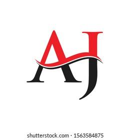 AJ Letter Linked Logo. AJ Letter Modern Business Logo Vector template.