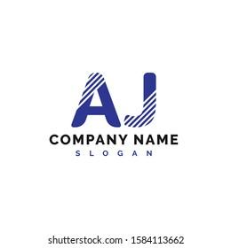 AJ Logo Design. AJ Letter Logo Icon Vector Illustration - Vector
