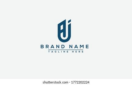 AJ Logo Design Template Vector Graphic Branding Element.