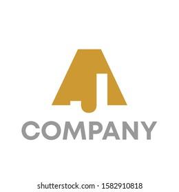 aj logo icon design template sign