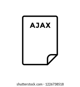 Ajax vector icon. code, coding, development, html, language, programming icon