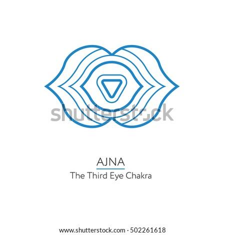 Ajna Third Eye Chakra Symbol Used Stock Vector Royalty Free