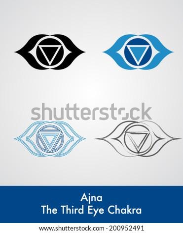 Ajna Third Eye Chakra Vector Symbol Stock Vector Royalty Free