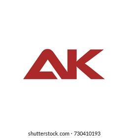 AK initial letter logo design template vector