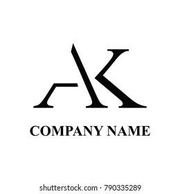 Ak initial logo design