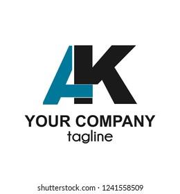 AK initials letter company logo