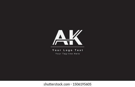 AK or KA letter logo. Unique attractive creative modern initial AK KA A K initial based letter icon logo