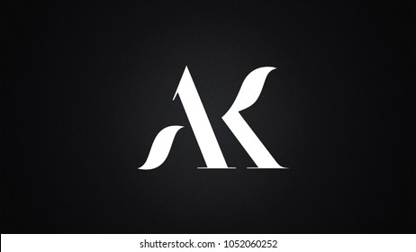 AK Letter Logo Design Template Vector