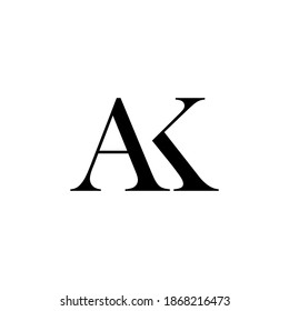AK Letter Logo Design Template Vector