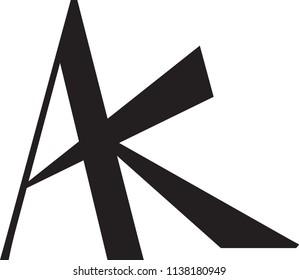 ak letter vector logo