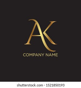AK Logo Design Template Vector