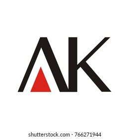 AK logo initial letter design template designed based in vector format illustration, easy to change color and size.