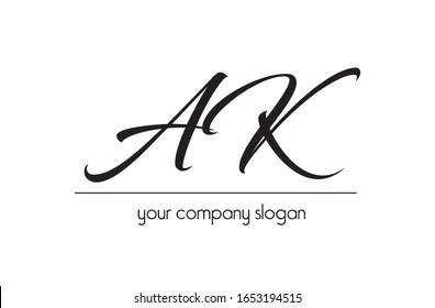 AK logo, Simple letter font logo.