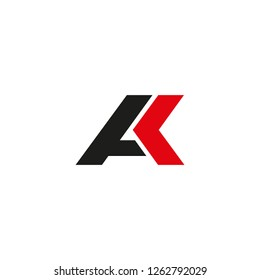 AK logo. Vector illustration.