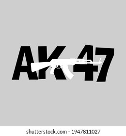 Ak47 graphic trendy vector design.