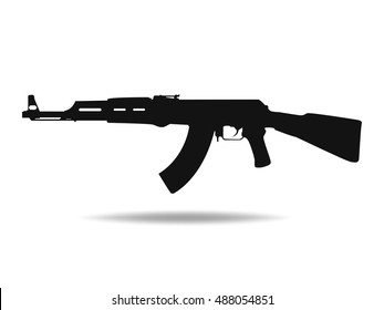 Ak47 Outline Images, Stock Photos & Vectors | Shutterstock