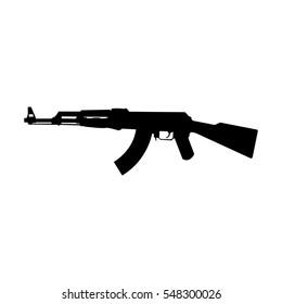 AK-47 silhouette vector