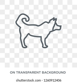 Akita dog icon. Trendy flat vector Akita dog icon on transparent background from dogs collection. High quality filled Akita dog symbol use for web and mobile