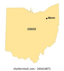 Akron Ohio Map Images Stock Photos Vectors Shutterstock