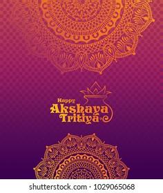 Akshaya Tritiya Background with Floral Ornaments