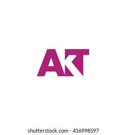 AKT Logo. Vector Graphic Branding Letter Element. White Background