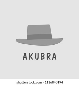 akubra traditional hat from australia vector illustartion b2c2d7f10ca