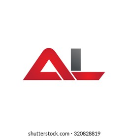 AL company group linked letter logo
