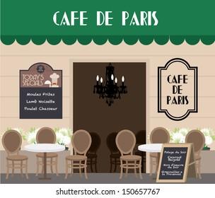 al fresco cafe vector/illustration