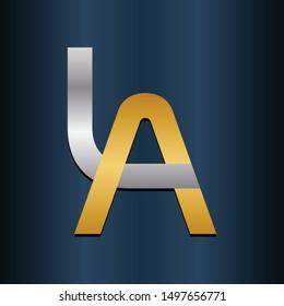AL LA Double Initial Alphbet letters Logo