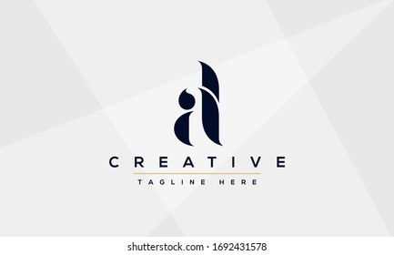 AL Letter Logo Design. Creative Modern A L Letters icon vector Illustration.