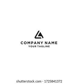 AL letter logo icon illustration vector design