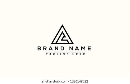 AL Logo Design Template Vector Graphic Branding Element.