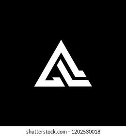 al logo initial triangle