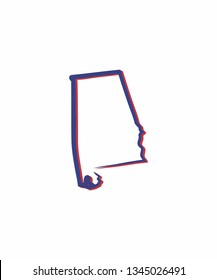 Alabama Outline Logo Icon 001