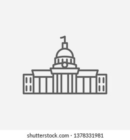 Alabama state capitol icon line symbol. Isolated vector illustration of  icon sign concept for your web site mobile app logo UI design.