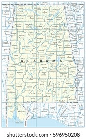 alabama state map Images, Stock Photos & Vectors | Shutterstock