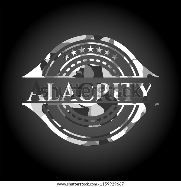 Alacrity On Grey Camouflage Texture Stock Vector (Royalty Free